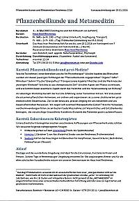 Kursausschreibung Pflanzenheilkunde Metamedizin als pdf-Datei: zom Download dieses Bild anklicken